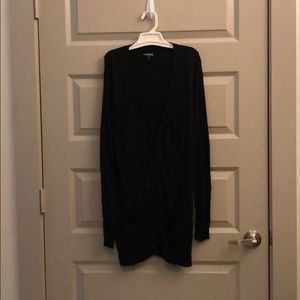 Express Long Black button down cardigan